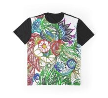 Zen Doodle 3A Rainbow Clear Graphic T-Shirt