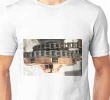 Classic vintage bike chain photograph on clothing, home decor, gifts and greetings cards. Unisex T-Shirt