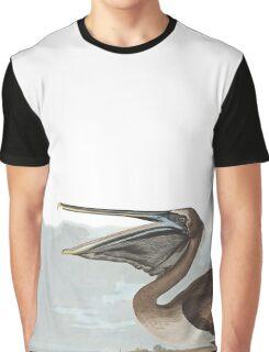 Brown Pelican - John James Audubon Graphic T-Shirt