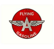 Flying A Gasoline rusted version Art Print