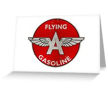 Flying A Gasoline rusted version Greeting Card