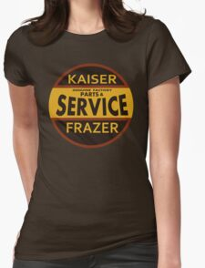 Kaiser Frazer Approved Service vintage sign (brown) Womens Fitted T-Shirt