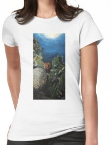 BRAIN CORAL Womens Fitted T-Shirt