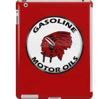 Red Indian Gasoline vintage sign reproduction crystal vers. iPad Case/Skin