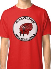 Red Indian Gasoline vintage sign reproduction crystal vers. Classic T-Shirt
