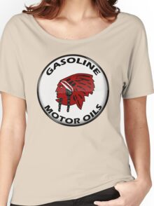 Red Indian Gasoline vintage sign reproduction crystal vers. Women's Relaxed Fit T-Shirt