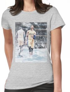 D'Angelo Russell Ice In My Veins Basketball Artwork Los Angeles Womens Fitted T-Shirt