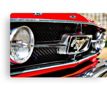 Mustang 65 grille Canvas Print