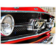 Mustang 65 grille Poster