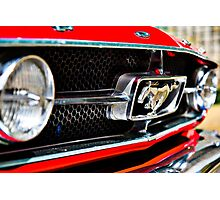 Mustang 65 grille Photographic Print