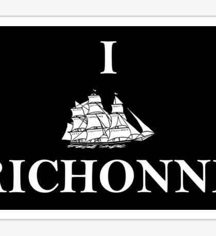 I SHIP RICHONNE Sticker