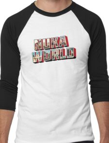 Nuka-Cola Vintage Postcard Men's Baseball ¾ T-Shirt