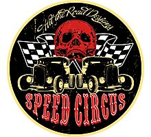 Speed Circus - Hit the Road Designs original art Photographic Print