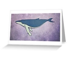 Humpback Whale Into the Blue Greeting Card