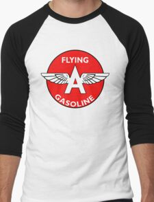 Flying A Gasoline vintage sign Men's Baseball ¾ T-Shirt