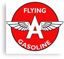 Flying A Gasoline vintage sign Canvas Print