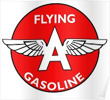 Flying A Gasoline vintage sign Poster