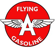 Flying A Gasoline vintage sign Photographic Print