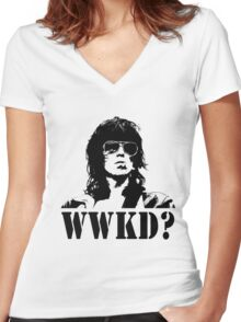 What Would Keef Do? Women's Fitted V-Neck T-Shirt