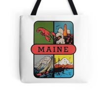 Maine Lobster Sailing Vintage Travel Decal Tote Bag