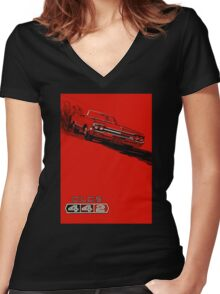 1964 Oldsmobile 442 poster reproduction Women's Fitted V-Neck T-Shirt