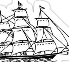 I SHIP STONY Sticker