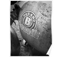 Pesaro Benelli vintage motorcycle Poster
