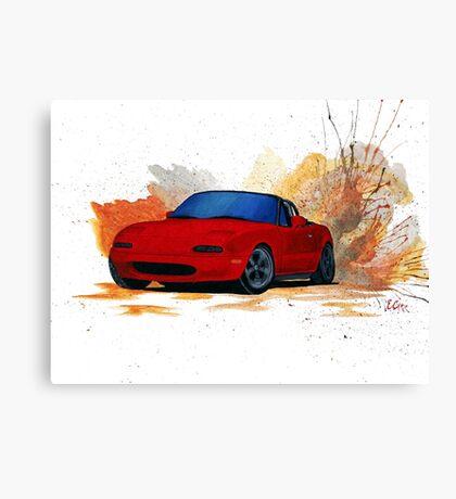 Mazda Miata Drift Painting Canvas Print