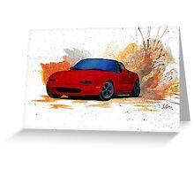 Mazda Miata Drift Painting Greeting Card