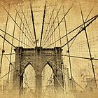 Brooklyn Bridge Postcard by Jessica Jenney