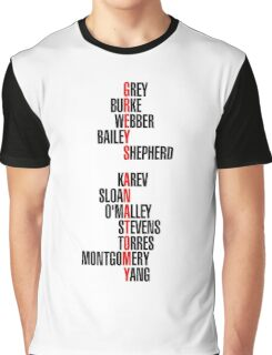 greys anatomy Graphic T-Shirt