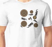 Gekko`s - Glücksymbol - Majestic World - Design von M. A. MARTIN  Unisex T-Shirt