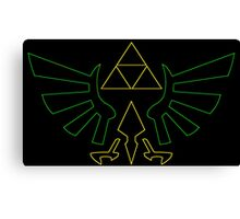 °GEEK° Triforce Neon Logo Canvas Print