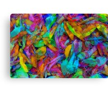 Colorful fantasy fallen leaves Canvas Print