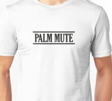 Palm Mute (black) Unisex T-Shirt