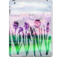 Purple Tulips Watercolor Silhouette iPad Case/Skin