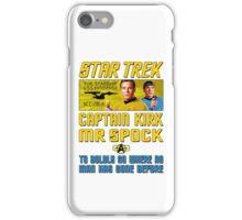 Star Trek Captain Kirk Mr Spock iPhone Case/Skin