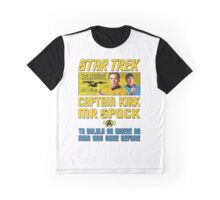 Star Trek Captain Kirk Mr Spock Graphic T-Shirt