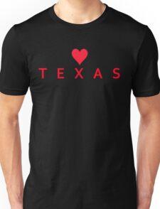 Texas with Heart Love Unisex T-Shirt