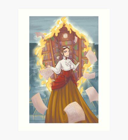 Steampunk Librarian Art Print
