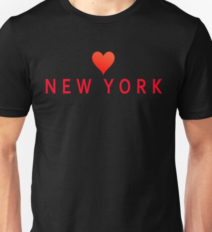 New York with Heart Love Unisex T-Shirt