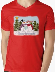 Snowman Family Merry Christmas  T-Shirt