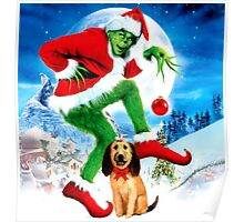 GRINCH FOR CHRISTMAS MOON Poster