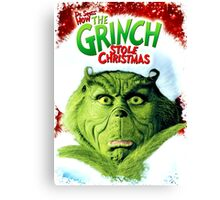 GRINCH FOR CHRISTMAS FACE Canvas Print