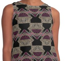 Seamless antique art deco pattern ornament. Geometric stylish background repeating texture Contrast Tank