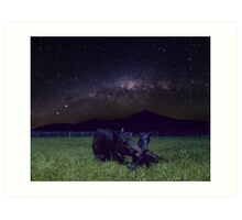 Born Under The Milky Way Art Print