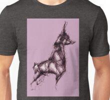 Origami Doberman Pink Unisex T-Shirt
