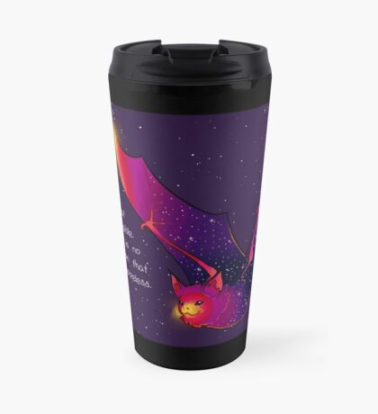 """Depression Lies"" Galaxy Bat Travel Mug"