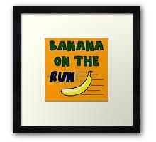 Banana On The Run! Framed Print