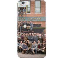 Harley Davidson gang and Bike Shop ca 1925 iPhone Case/Skin